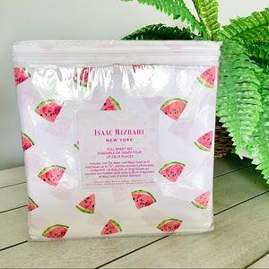 Isaac Mizrahi Watermelon Bed Sheets NWT